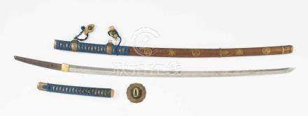 Jin-TachiJapan. Edo-Zeit. Klinge: Signiert Hishû Kawachi Daijô Masahiro chakushi Musashimori