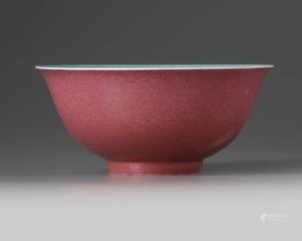 A Chinese ruby-enamelled bowl