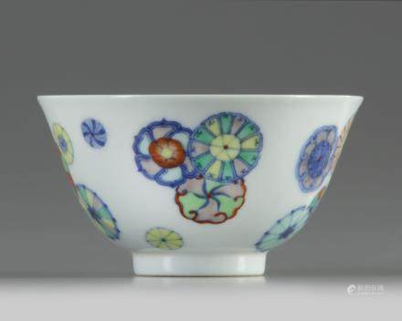 A Chinese doucai 'flower-balls' bowl
