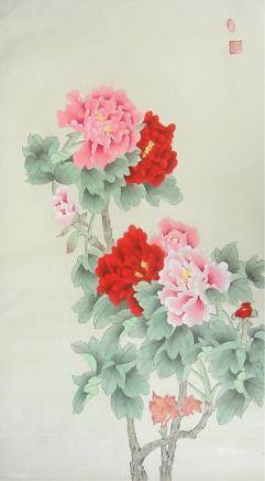 Chang Lu 20th Century Chinese Watercolor on Paper