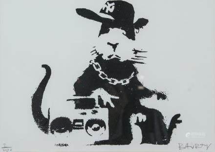 British Pop Art Silkscreen Litho Signed Banksy