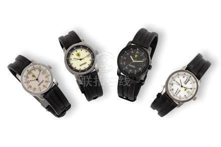 SET of 4 Ferrari wristwatches.