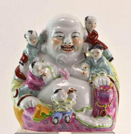 (Asian antiques) Happy Boeddha