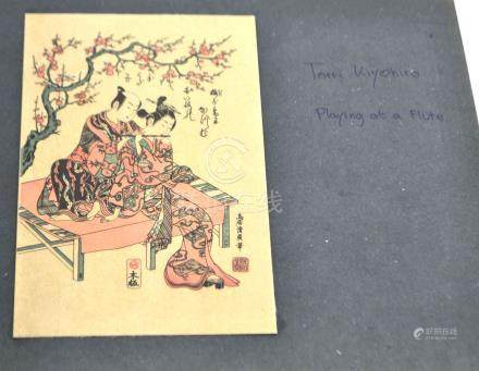 (Asian antiques) Woodcuts