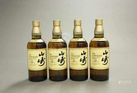 山崎12年4瓶一組
