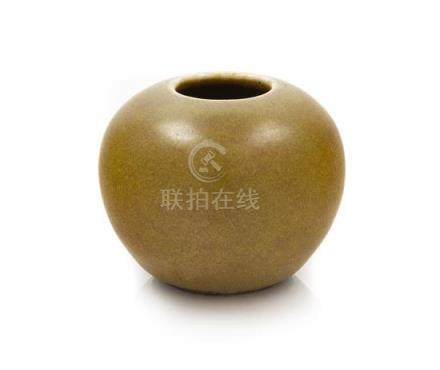 * A Small Chinese Teadust Glazed Porcelain Jar Diameter