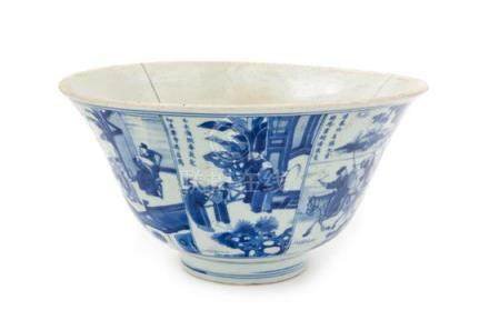 * A Chinese Blue and White Porcelain Bowl Diameter 10