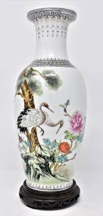 Chinese Qing Dynasty Longevity Porcelain Vase
