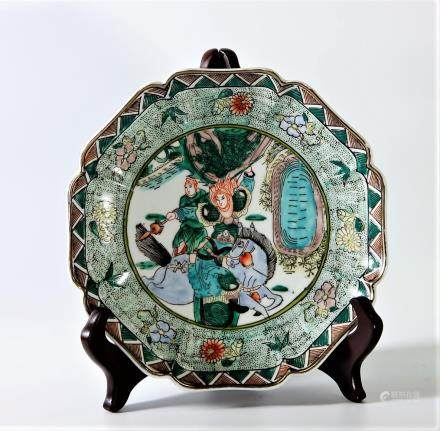 Qing Dynasty Chinese Famille Rose Plate