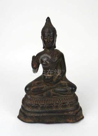 Bouddha en bronze. XIXe. Siam.