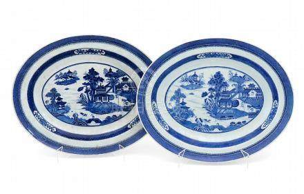 A PAIR JIAQING OF PLATTERS