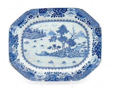 AN EIGHT-SIDED QIANLONG PLATTER