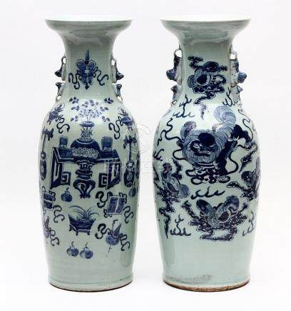 A PAIR OF ORIENTAL VASES