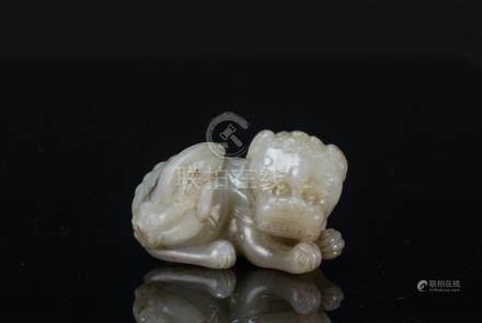 Ming-A White Jade Lion