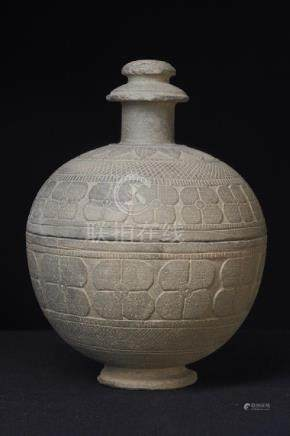 A Very Nice and Large Gandharan Grey Schist Reliquary