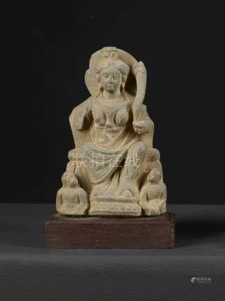 A Nice Gandharan Grey Schist Sculpture of Hariti