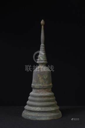 A Nice and Large Bronze Buddhist Stupa