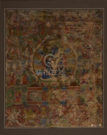 A Very Nice Old Sino-Tibetan Thangka