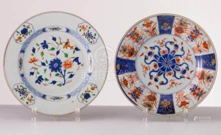 Zwei Teller China-Imari, Anf. 19. Jh.