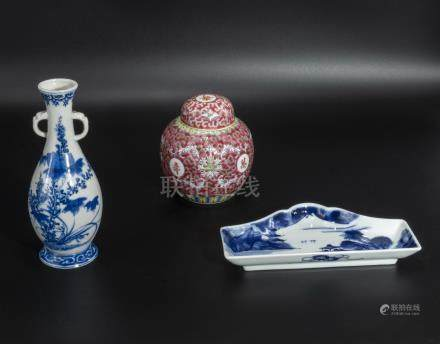 Three pieces of Chinese pottery