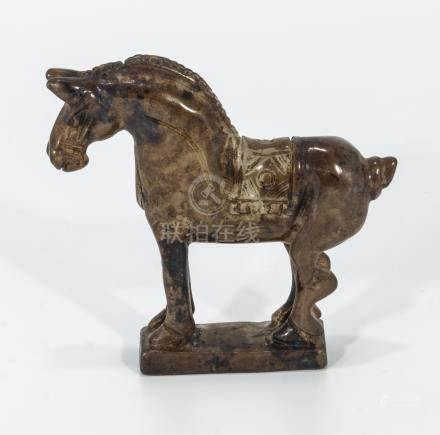 Q'ing dynasty Chinese jade carving of a horse