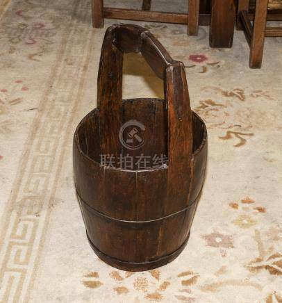 A Chinese wooden pail