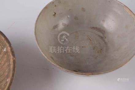 Ensemble de six bols et coupes sur pied Chine, Swatow Porcelaine à glaçure ce