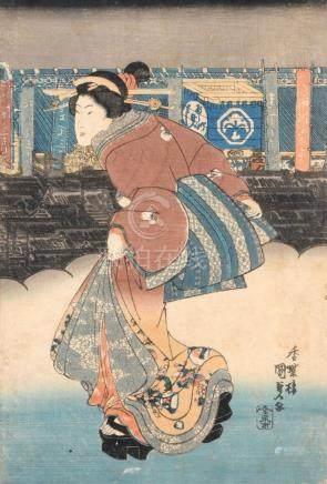 Utagawa Kunisada I., Darstellung einer jungen Frau. 1830 s.