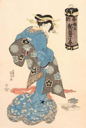 "Utagawa Kunisada I. ""Das Maedchen Koharu"". Um 1815- 1830."