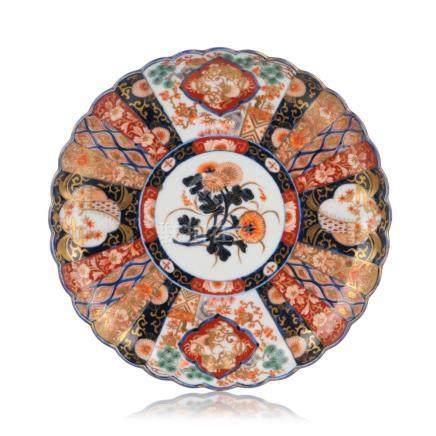 Imari-Teller. Wohl Arita, Japan. Wohl 19th cent.