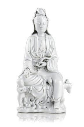 Blanc-De-Chine-Bodhisattva Guanyin. Dehua, China. Wohl 20th