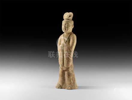Chinese Large Tang Court Official Figurine