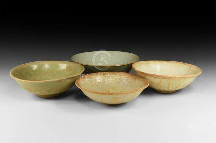Chinese Ming Glazed Bowl Group