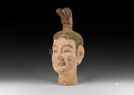 Chinese Large Painted Head