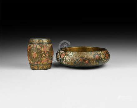 Japanese Lacquer-Work Vessel Group