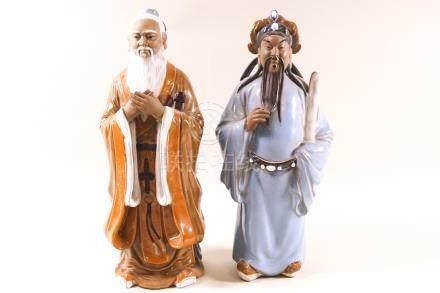 Two Chinese Shiwan (mud man) figures,