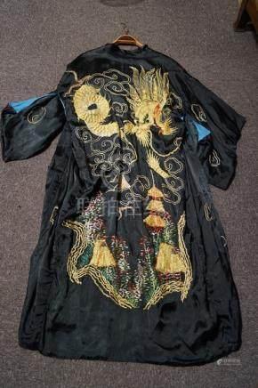 A Japanese reversible Kimono