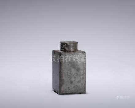 清 四角錫罐