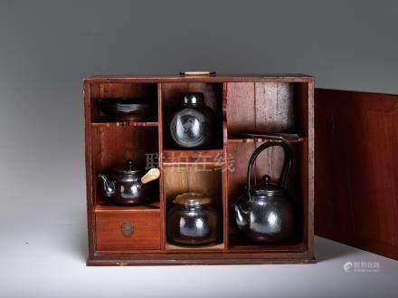 三越款 純銀煎茶器 一組