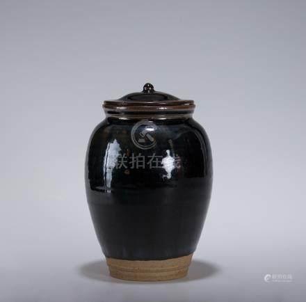 金 磁州窯 茶罐