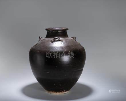 宋~元 吉州窯 黑釉茶甕
