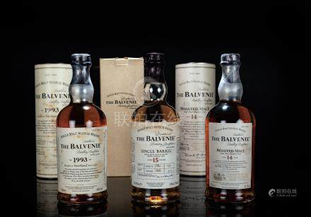 百富Balvenie 1993年單一純麥威士忌、百富Balvenie 15年單一純麥蘇格蘭威士忌、百富Balvenie 14年單一純麥蘇格蘭威士忌