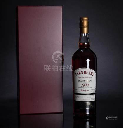 格蘭丹尼 Glen Denny麥卡倫 Macallan 1977年原廠純麥威士忌 二瓶