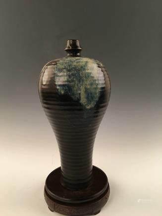 Chinese Jizhou Ware  Glazed Meiping Vase