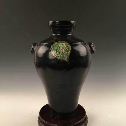 Chinese Jizhou Kiln Black Glazed Vase