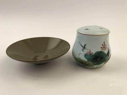 Chinese Porcelain Plate and Jar