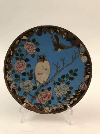Chinese Cloisonne Birds Plate