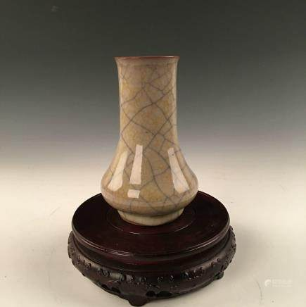 Chinese Guan-Type  Kiln Yellow Glazed Vase