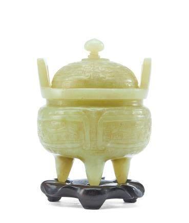 黃玉獸面紋三足爐