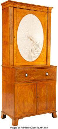 A Continental Neoclassical Satinwood and Mahogany